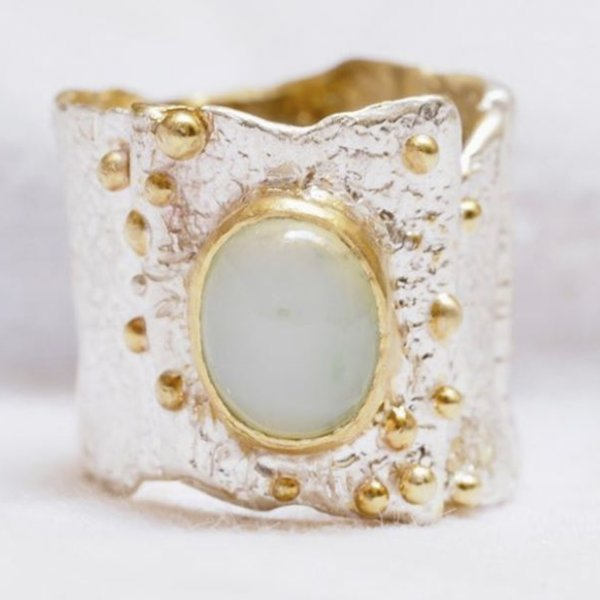 Silver and Gold Wax Modeling Ring 2