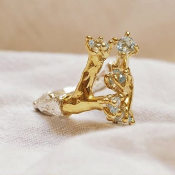 Anello Modellazione in Cera Argento e Oro 9