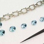 Progettazione Collana con acquamarine e Diamanti